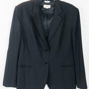 Women's Black Talbots Two Button Blazer Size 14